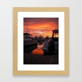 Washington Sunset Framed Art Print