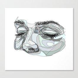 I'm waiting (blue) Canvas Print