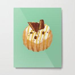Tim Tam and Coffee Donut Polygon Art Metal Print