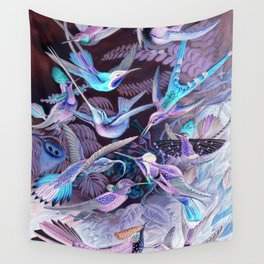 Ode to Haeckel's Hummingbirds Wall Tapestry