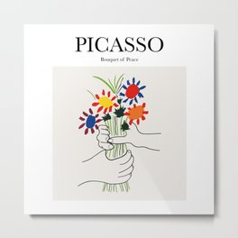 Picasso - Bouquet of Peace Metal Print