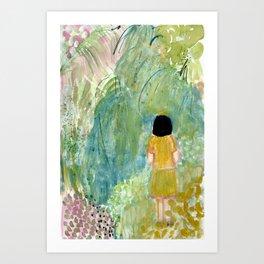 Visiting the botanical gardens Art Print