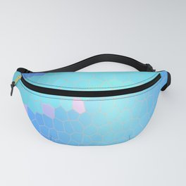 Waves Stained Glass Pixel Graphic Fanny Pack