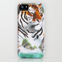 Quiet Tiger - big cat - animal - by LiliFlore iPhone Case