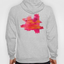 """Abstract brushstrokes in pastel pinks and oranges decorative pattern"" Hoody"