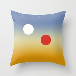 Binary Sunset Throw Pillow