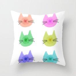 Cat Butt Head Throw Pillow