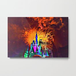Magical Mickey Nights Metal Print