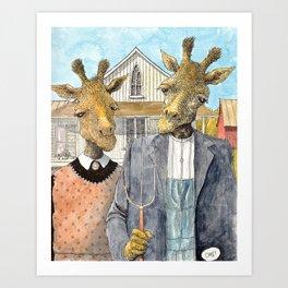 American Giraffic Art Print