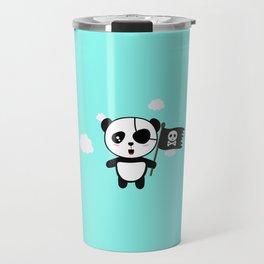 Panda Pirate with Flag T-Shirt for all Ages Da19o Travel Mug