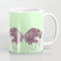 sheep Mugs featuring Sheep by Monique Turchan