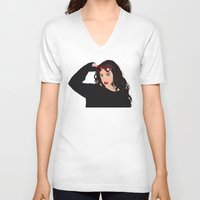 charli xcx V-neck T-shirts featuring Charli XCX by BUGS