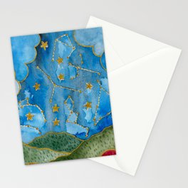 Sky Watercolor Stationery Cards