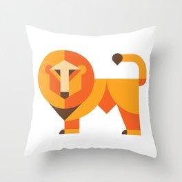 Geometric lion Throw Pillow