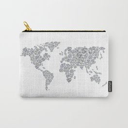 Diamonds World Map Carry-All Pouch