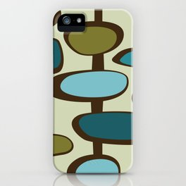 Mid Century Modern Baubles (teal) iPhone Case