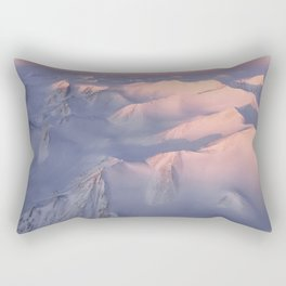 Mountain tops in Ellesmere Island Canadian Arctic Archipelago Rectangular Pillow