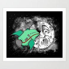 Le voyage dans la lune Art Print