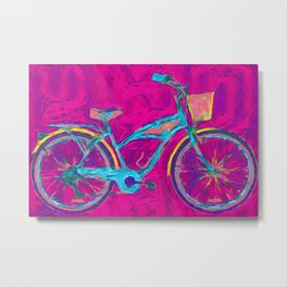 Joanna's Bike Metal Print