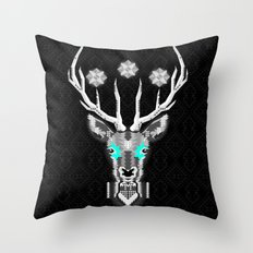 Silver Stag Geometric Throw Pillow