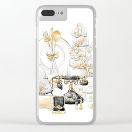 Wedding Accessories Print Clear iPhone Case