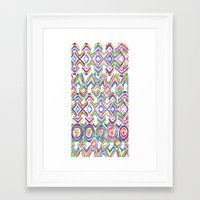 ikat Framed Art Prints featuring ikat by  Ray Athi