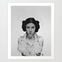 princess leia Art Prints featuring Leia by Matthew Greskiewicz