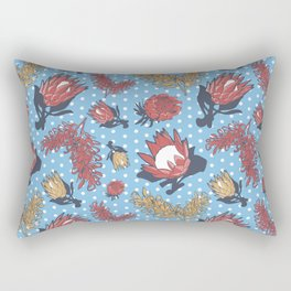 Australian Native Flowers - Grevillea and Protea Rectangular Pillow