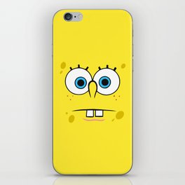 Spongebob Surprised Face iPhone Skin
