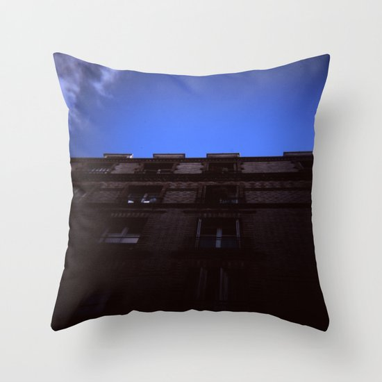 Holga Building Throw Pillow