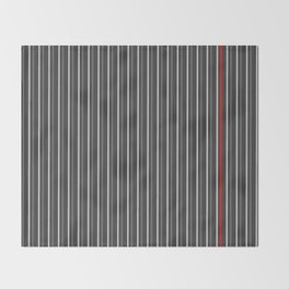 Grey Red stripes pattern Throw Blanket