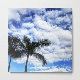 Blue Blue Palm Sky Metal Print