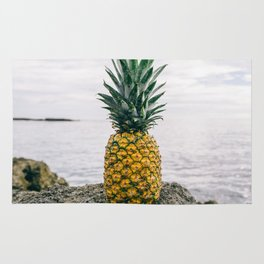 Pineapple on the beach II Rug