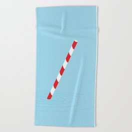 Soda straw Beach Towel