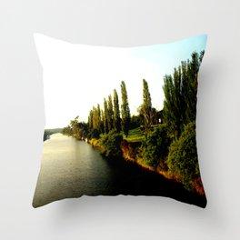 Thompson River @ Twilight Throw Pillow