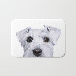 Schnauzer original Dog original painting print Bath Mat