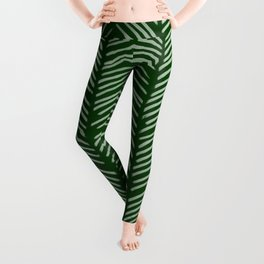Forest Green Herringbone Leggings