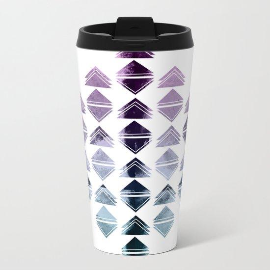 Rhombus triangles Metal Travel Mug