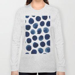 Watercolor polka dots Long Sleeve T-shirt