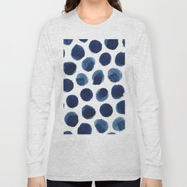 Watercolor polka dots Long Sleeve T-shirt