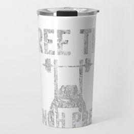 Free The Bench Press Silver Travel Mug