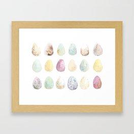 Watercolor Easter Eggs Framed Art Print