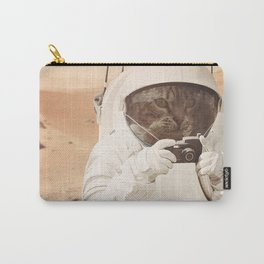 Astronaut Cat on Mars Carry-All Pouch