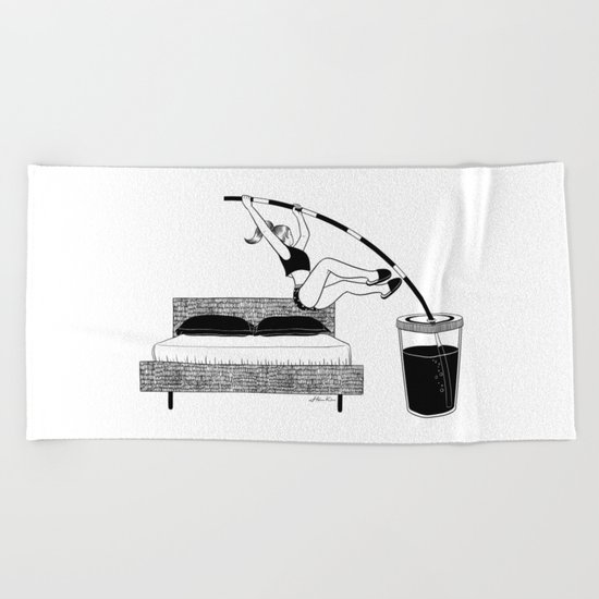 Wake up Beach Towel
