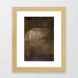 Rain Blurs Everything Framed Art Print