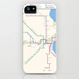 Milwaukee Transit System Map iPhone Case
