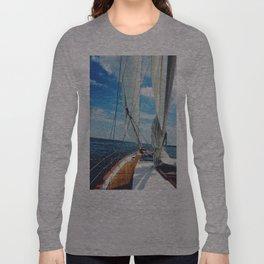 Sweet Sailing - Sailboat on the Chesapeake Bay in Annapolis, Maryland Long Sleeve T-shirt