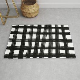 Black cage Rug