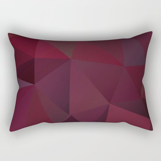 Abstract background of triangles polygon design red marsala colors Rectangular Pillow