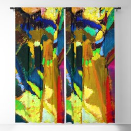 Wassily Kandinsky Painting Outdoors Blackout Curtain